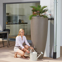 2in1 water tank with plant cup taupe
